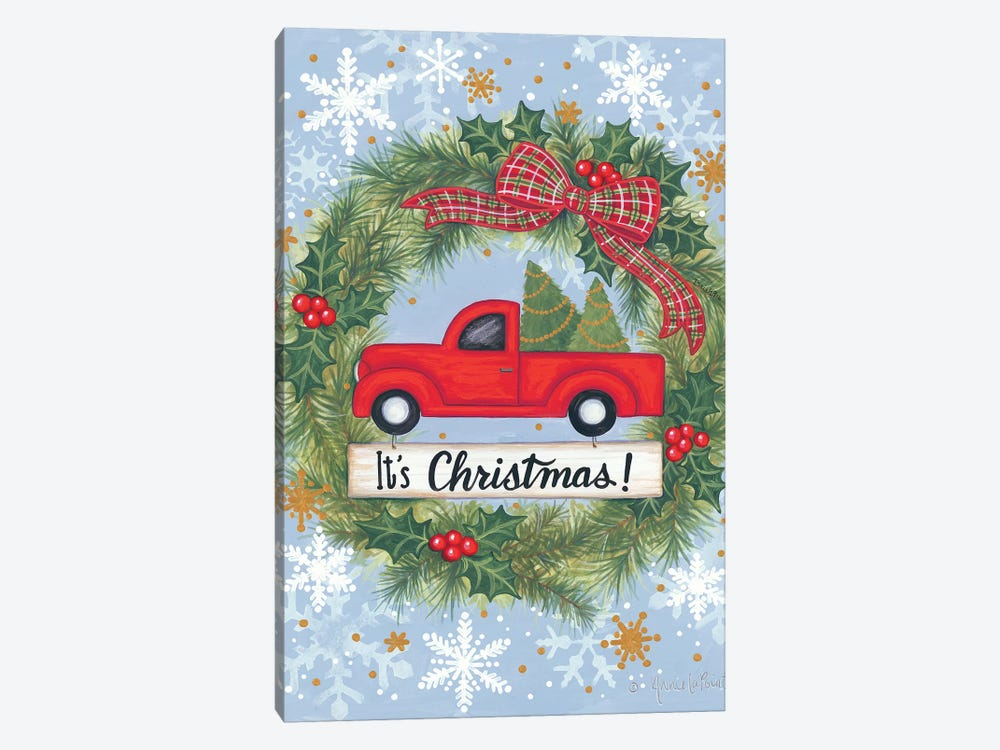 Red Truck Christmas by Annie LaPoint 1-piece Canvas Artwork