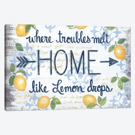 Lemon Home    Canvas Print #LPT28} by Annie LaPoint Canvas Art Print