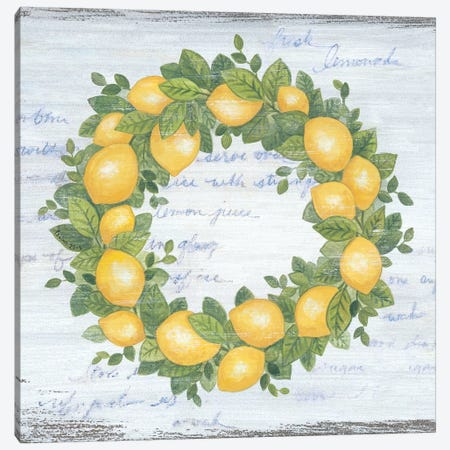 Lemon Wreath   Canvas Print #LPT29} by Annie LaPoint Canvas Print