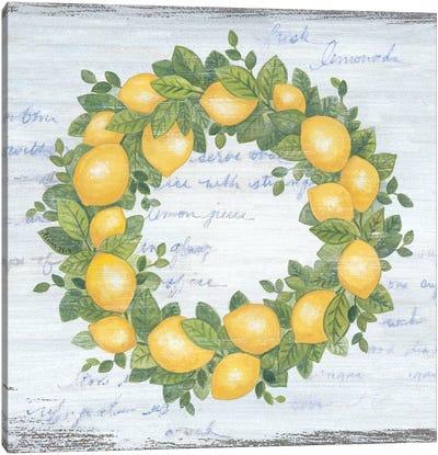 Lemon Wreath   Canvas Art Print