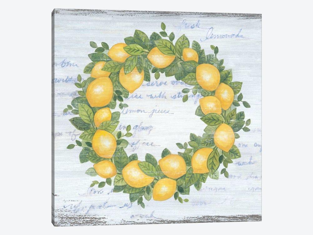 Lemon Wreath   by Annie LaPoint 1-piece Canvas Art Print
