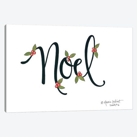 Noel with Berries Canvas Print #LPT36} by Annie LaPoint Art Print