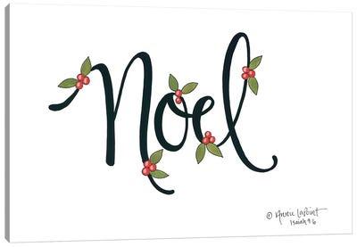 Noel with Berries Canvas Art Print