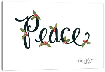 Peace with Berries Canvas Art Print