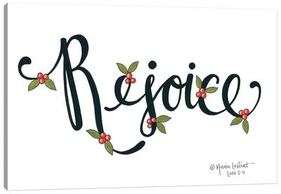 Rejoice with Berries Canvas Art Print