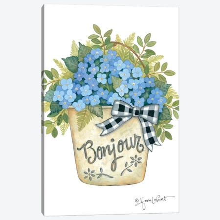 Hydrangeas Bonjour Canvas Print #LPT40} by Annie LaPoint Canvas Print