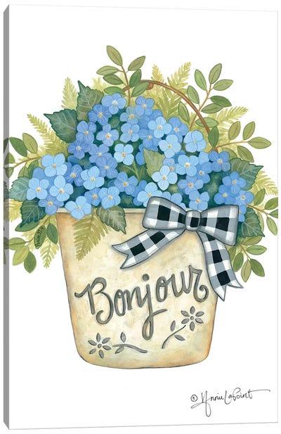 Hydrangeas Bonjour Canvas Art Print