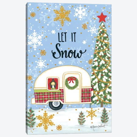 Let It Snow Camper Canvas Print #LPT44} by Annie LaPoint Canvas Wall Art