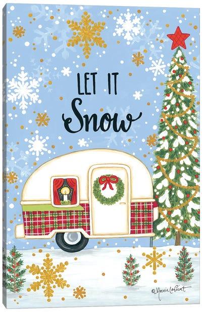 Let It Snow Camper Canvas Art Print