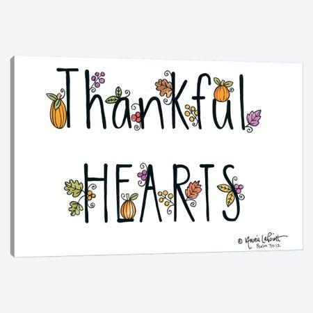 Thankful Hearts Canvas Print #LPT46} by Annie LaPoint Canvas Wall Art