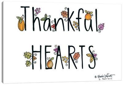 Thankful Hearts Canvas Art Print