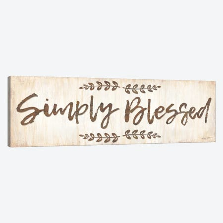 Simply Blessed Canvas Print #LPT49} by Annie LaPoint Canvas Print
