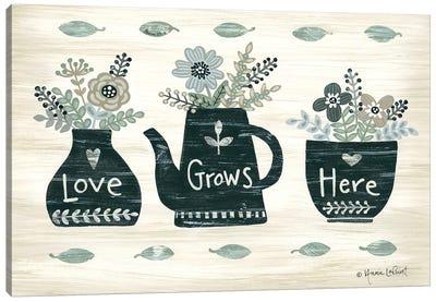 Love Grows Here Canvas Art Print