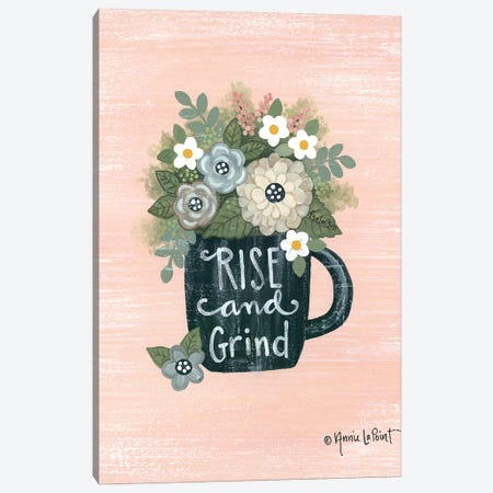 Rise and Grind Canvas Print #LPT58} by Annie LaPoint Canvas Wall Art