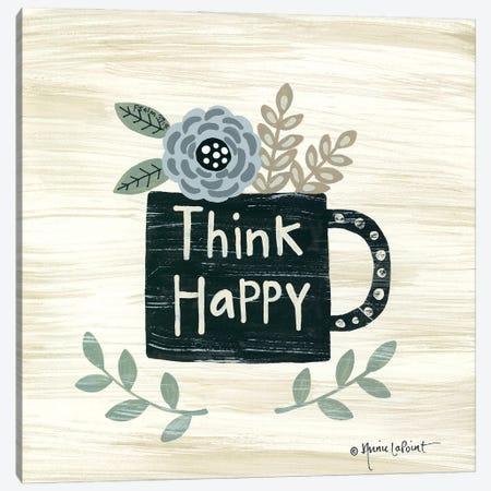 Think Happy Canvas Print #LPT60} by Annie LaPoint Canvas Print