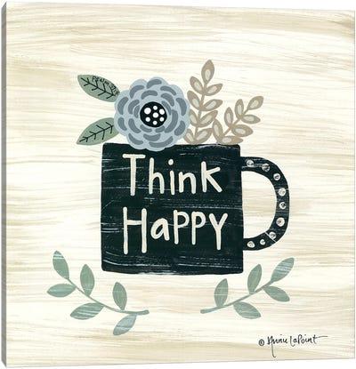 Think Happy Canvas Art Print