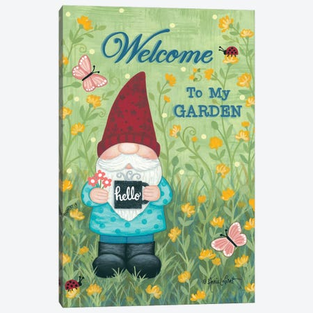 Welcome to My Garden Canvas Print #LPT61} by Annie LaPoint Canvas Art Print