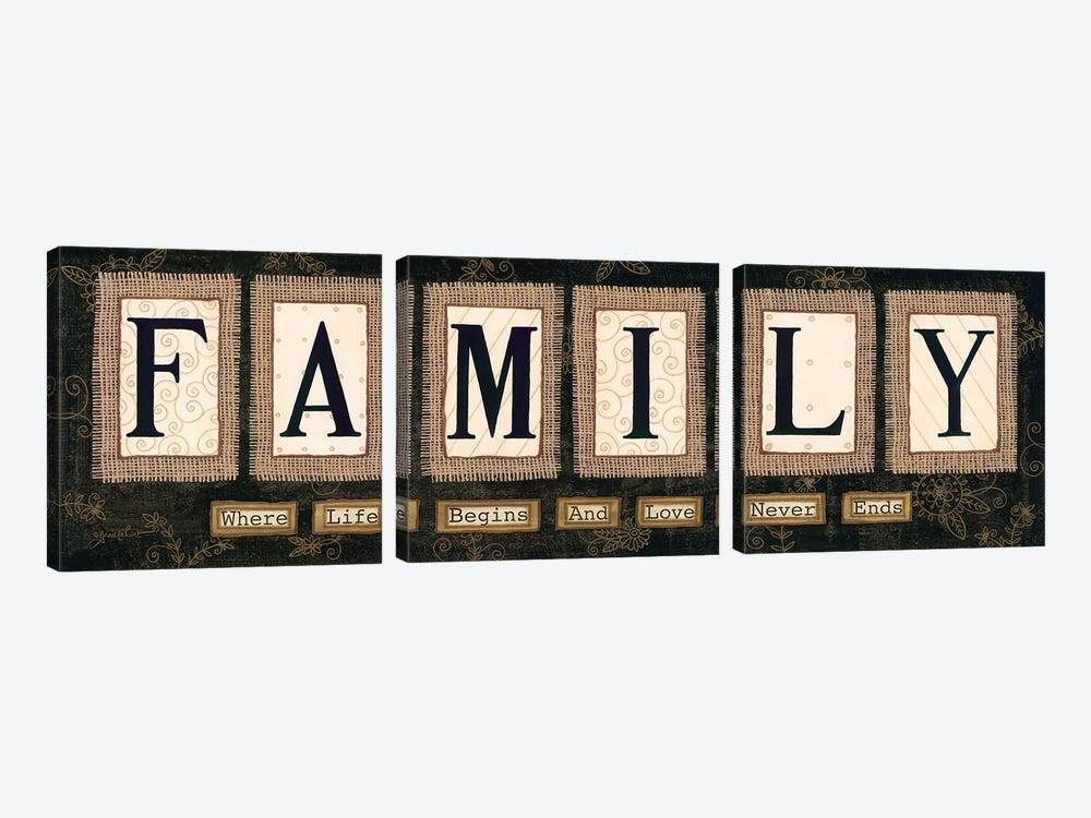 Family by Annie LaPoint 3-piece Canvas Wall Art
