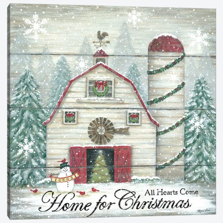 Home For Christmas Canvas Print #LPT63} by Annie LaPoint Canvas Print