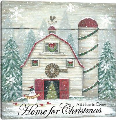 Home For Christmas Canvas Art Print
