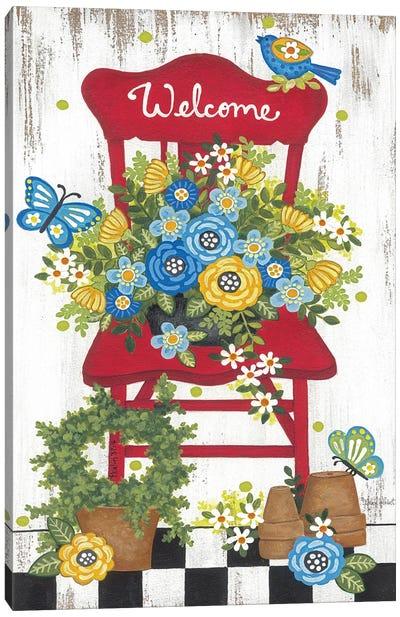 Welcome Garden Chair Canvas Art Print