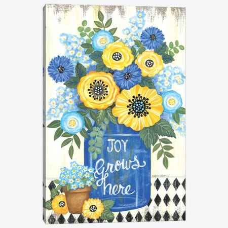 Joy Grows Here Canvas Print #LPT65} by Annie LaPoint Canvas Wall Art