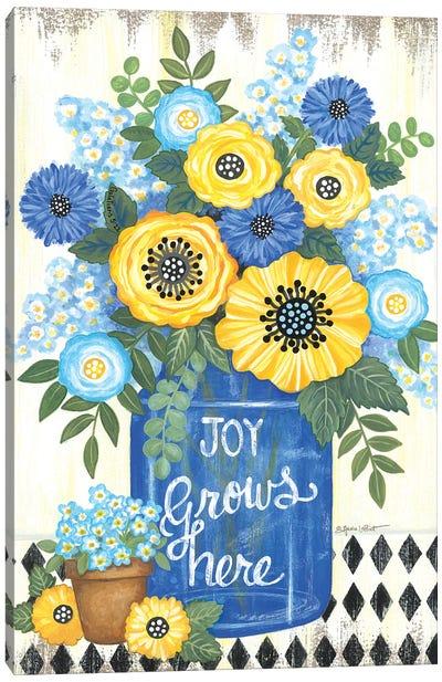 Joy Grows Here Canvas Art Print