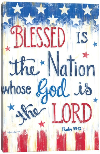 Blessed Is The Nation Canvas Art Print