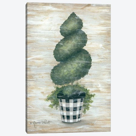 Gingham Topiary Spiral Canvas Print #LPT6} by Annie LaPoint Canvas Art Print
