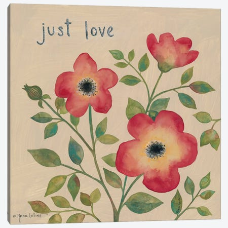 Just Love Roses Canvas Print #LPT9} by Annie LaPoint Canvas Art