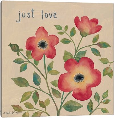 Just Love Roses Canvas Art Print