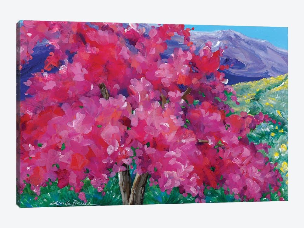 Crimson Crabapple Tree by Linda Rauch 1-piece Canvas Art