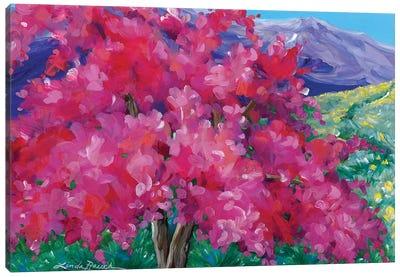 Crimson Crabapple Tree Canvas Art Print