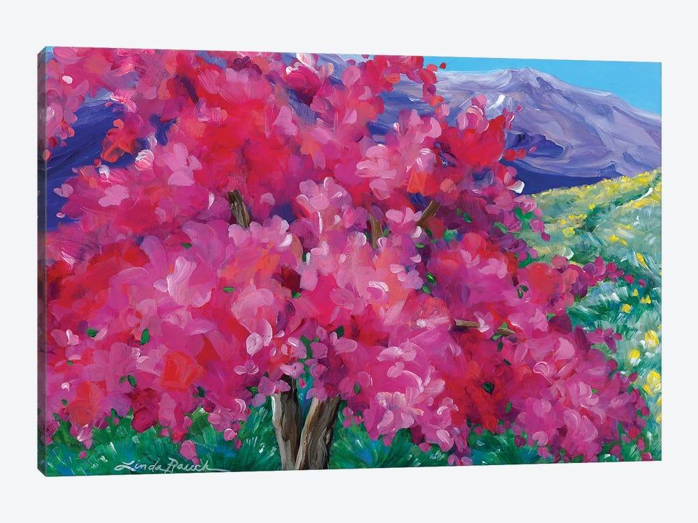 Crimson Crabapple Tree by Linda Rauch 1-piece Canvas Art