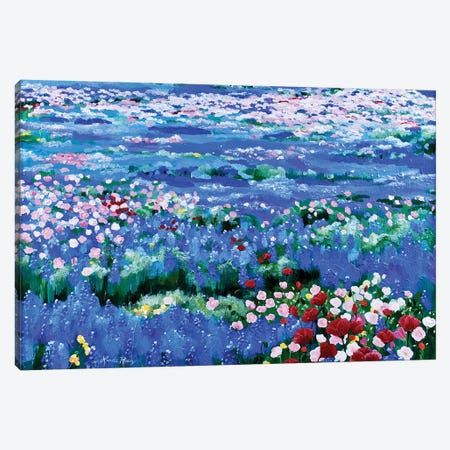 Oceans Of Wildflowers 3-Piece Canvas #LRA32} by Linda Rauch Canvas Artwork
