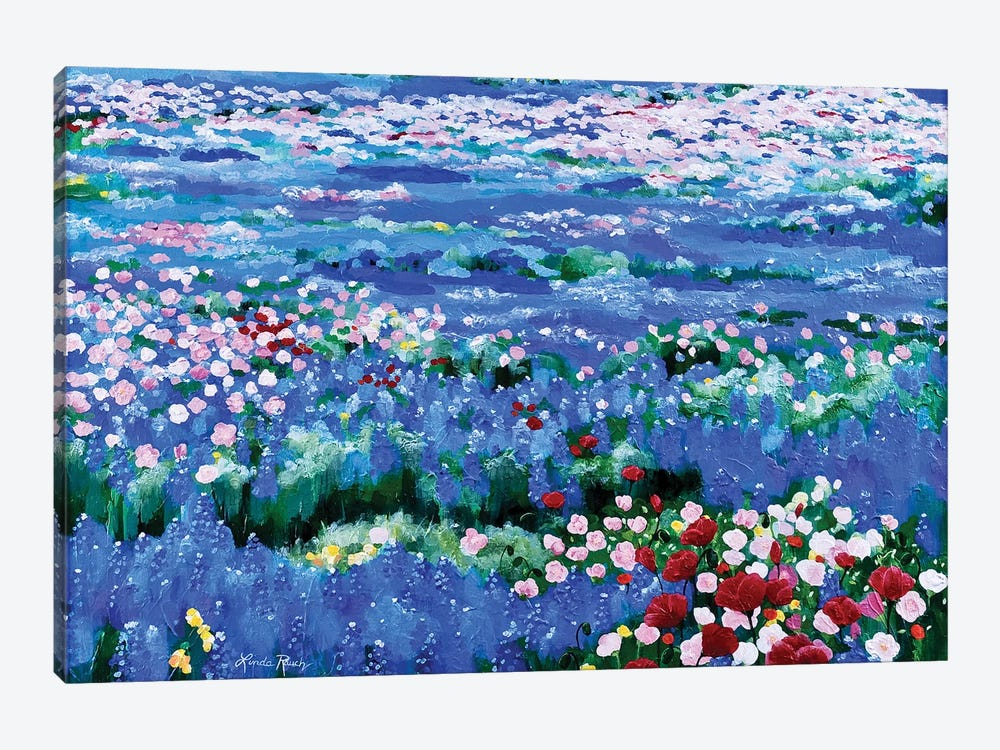 Oceans Of Wildflowers by Linda Rauch 1-piece Canvas Wall Art