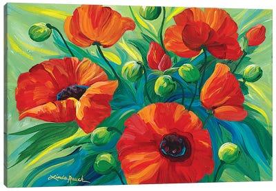 Oriental Poppies Canvas Art Print