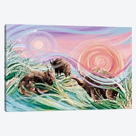 Sky Rainbows 3-Piece Canvas #LRA37} by Linda Rauch Art Print