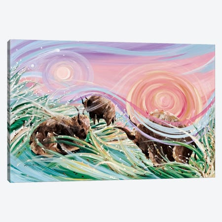 Sky Rainbows Canvas Print #LRA37} by Linda Rauch Art Print