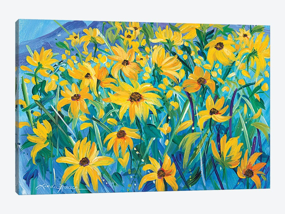 Taos In Gold by Linda Rauch 1-piece Canvas Print