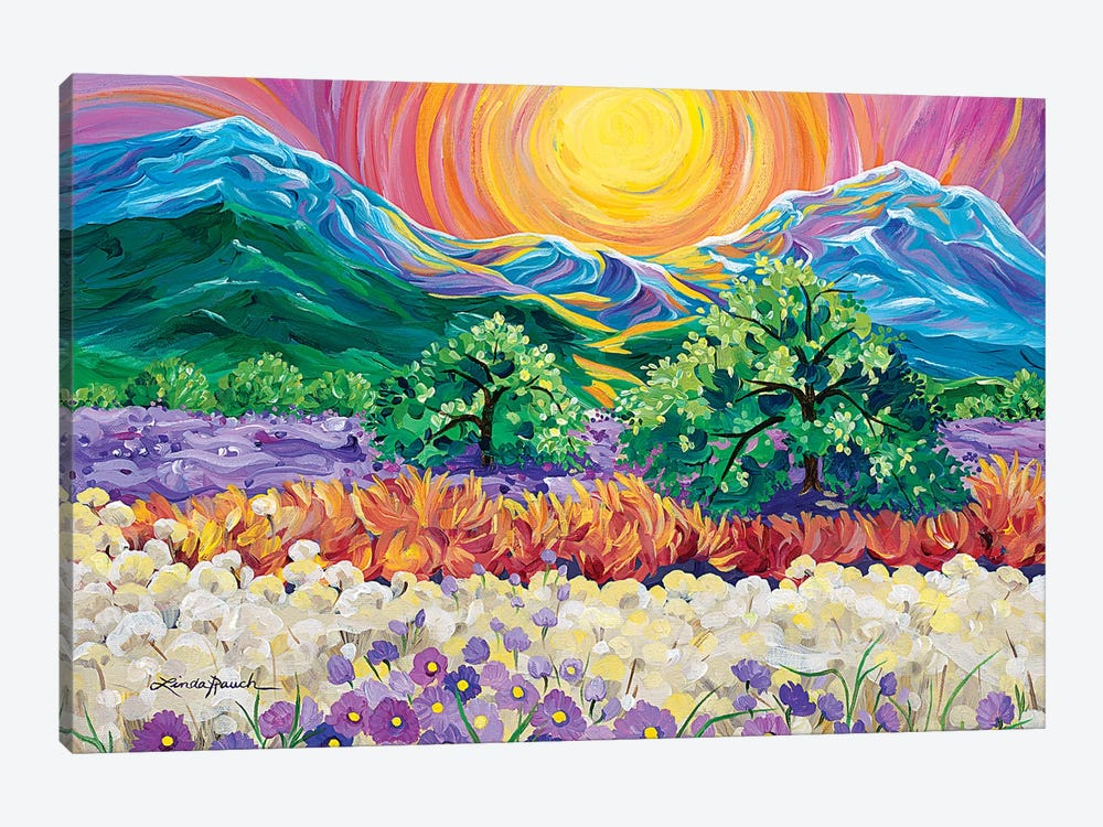Taos Sunrise by Linda Rauch 1-piece Canvas Art