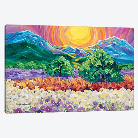 Taos Sunrise 3-Piece Canvas #LRA43} by Linda Rauch Canvas Art Print