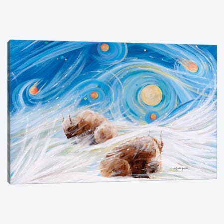 Winter Night 3-Piece Canvas #LRA49} by Linda Rauch Canvas Art Print