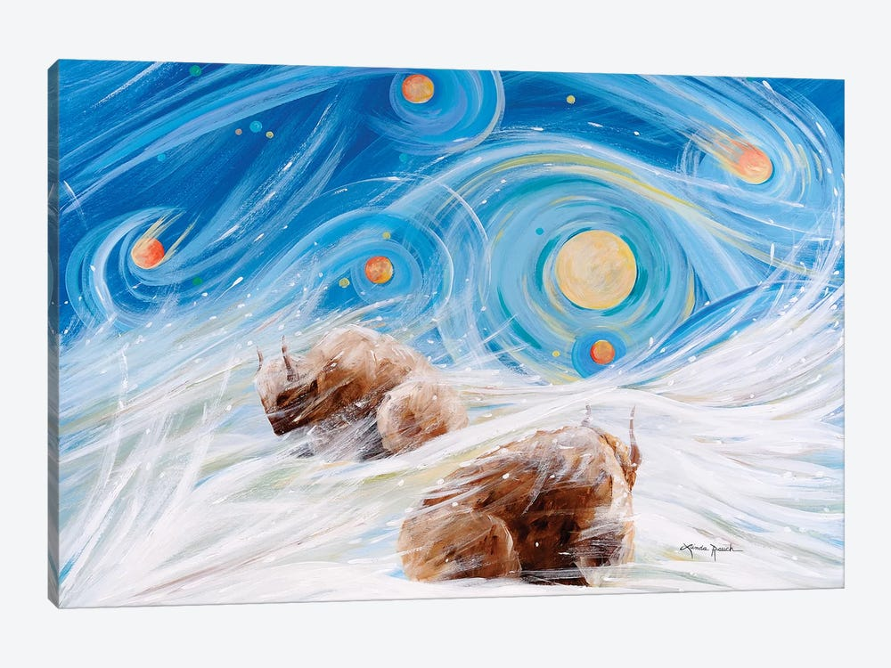 Winter Night by Linda Rauch 1-piece Canvas Art