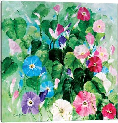 Morning Glory Bouquet Canvas Art Print