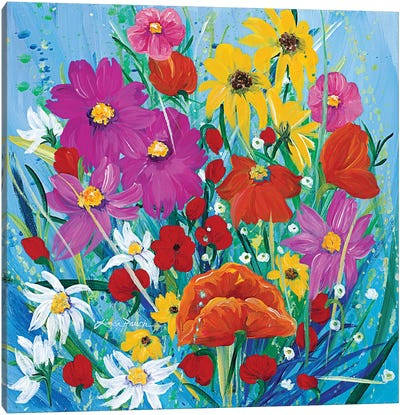 Wildflower Rainbow Canvas Art Print