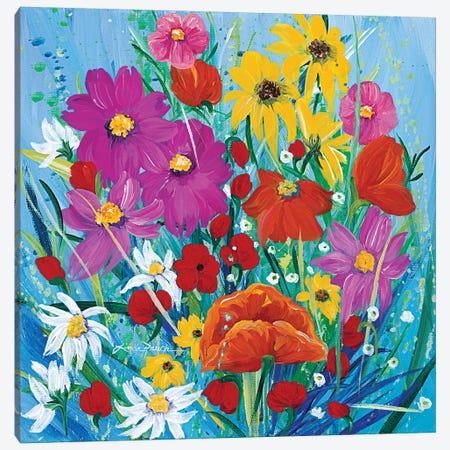 Wildflower Rainbow Canvas Print #LRA54} by Linda Rauch Canvas Art Print