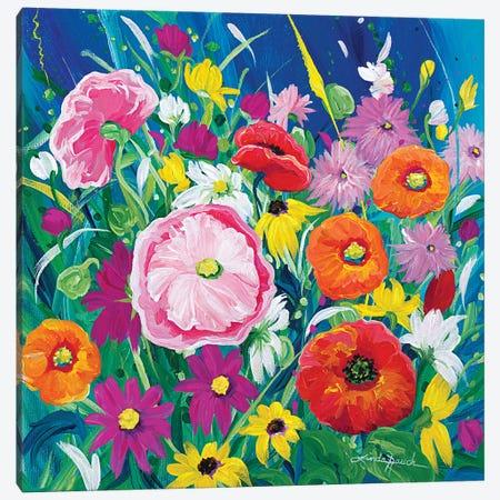 Wildflower Salsa Canvas Print #LRA55} by Linda Rauch Canvas Print