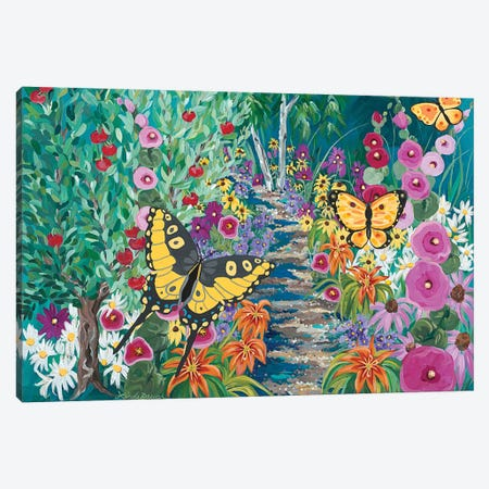 Seceret Garden Canvas Print #LRA59} by Linda Rauch Canvas Wall Art