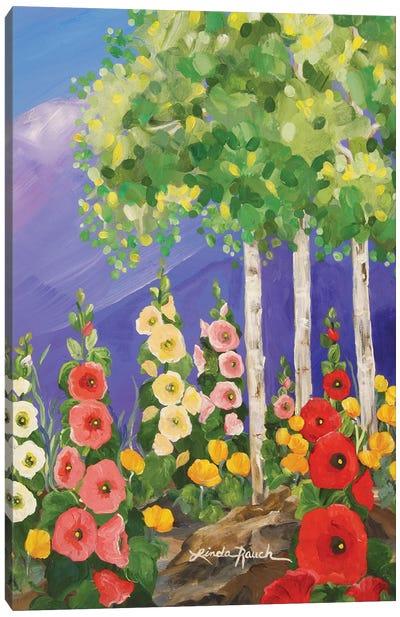Taos Summer Garden Canvas Art Print